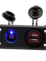 Недорогие -Iztoss Мотоцикл / Автомобиль Автомобильное зарядное устройство / Прикуриватель 2 USB порта для 5 V