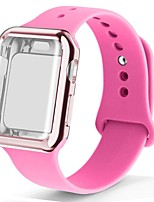 cheap -Case watch strap for apple watch 5 band 44mm correa apple watch 42mm 38mm 40mm iwatch 4 3 2 silicone pulseira bracelet watchband