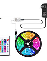 cheap -5m Flexible LED Light Strips / Light Sets / RGB Strip Lights 300 LEDs SMD3528 8mm 1 24Keys Remote Controller / 1 x 2A power adapter 1 set Multi Color Cuttable / Party / Decorative 12 V