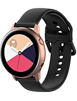 cheap -Watch Band for Gear Sport / Gear S2 Classic / Samsung Galaxy Watch 42mm Samsung Galaxy Classic Buckle Silicone Wrist Strap