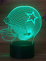 cheap -Pentagram Rugby Hat MIAMI Colorful Touch 3D Gift Night Light USB Dallas Cowboy Helmet