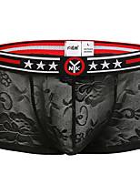 cheap -Men's Lace Boxers Underwear - Normal Low Waist Black Purple Blue M L XL