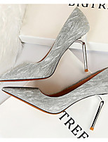 cheap -Women's Heels Stiletto Heel Pointed Toe PU Spring & Summer Champagne / Silver