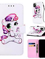 cheap -Case For Apple iPhone 11 / iPhone 11 Pro / iPhone 11 Pro Max Wallet / Card Holder / Rhinestone Full Body Cases Animal / Cartoon PU Leather