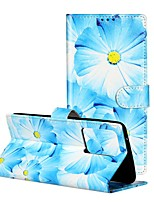 cheap -Case For Samsung Galaxy Galaxy A20e / Galaxy Note 10 / Galaxy Note 10 Plus Wallet / Card Holder / with Stand Full Body Cases Flower PU Leather