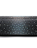 cheap -Women's Crystals Polyester Evening Bag Solid Color Black / Champagne / Blushing Pink