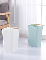 cheap -1pc Cleaning Portable square fashion simple garbage bin with handle