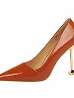 cheap -Women's Heels Stiletto Heel Pointed Toe Faux Leather Casual / Minimalism Spring / Summer Black / Brown / Nude