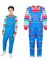cheap -Ghost Outfits Kid's Boys' Halloween Halloween Festival / Holiday Polyster Blue Carnival Costumes / Leotard / Onesie