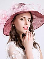 cheap -Vintage Style Fashion Tulle / Organza Hats / Headwear with Bowknot / Polka Dot / Trim 1 Piece Wedding / Outdoor Headpiece