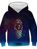 cheap -Kids Boys' Basic Street chic Color Block 3D Print Long Sleeve Hoodie & Sweatshirt Black