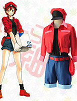 cheap -Inspired by Cells at Work Cosplay Anime Cosplay Costumes Japanese Cosplay Suits Top Shorts T-shirt For Women's / Cap / Waist Belt / Waist Pouch
