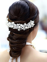 cheap -Women's Hair Jewelry For Wedding Engagement Party Engagement Wedding Geometrical Crystal Alloy Red White 1 pc