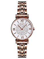 cheap -SKMEI Women's Quartz Watches Casual Fashion Silver Rose Gold Stainless Steel Chinese Quartz Rose Gold Silver Water Resistant / Waterproof New Design Cool 30 m 1 pc Analog One Year Battery Life