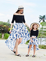 cheap -Mommy and Me Floral Dress Black