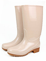 cheap -Women's Boots Flat Heel Round Toe PVC Mid-Calf Boots Spring & Summer / Fall & Winter Blue / Beige