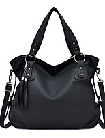 cheap -Women's Zipper PU Top Handle Bag Leather Bags Solid Color Black / Blue / Brown / Fall & Winter