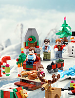 cheap -Building Blocks 431 pcs Snowman Santa Claus Christmas compatible Legoing Simulation Motorcycle All Toy Gift / Kid's