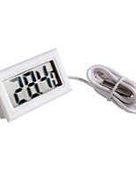 cheap -Mini Digital LCD White Thermometer With Probe Battery Outdoor Indoor Thermometer