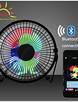 cheap -DIY 6 Inches USB LED Light Metal Electrical Rotatable Clock Fan Colorful Display bluetooth Connect with APP Control