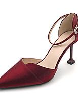 cheap -Women's Heels Stiletto Heel Pointed Toe Suede Spring & Summer Black / Wine