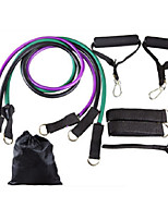 cheap -Resistance Band Set 10 pcs Sports TPE Pilates Exercise & Fitness Gym Workout Adjustable Durable Resistance Training Myofascial Release, Trigger Point Therapy, Muscle Knots, and Yoga Therapy For Men