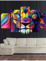 cheap -5 Panels Modern Canvas Prints Painting Home Decor Artwork Pictures DecorPrint Rolled  Stretched  Modern Art Prints Abstract Animals