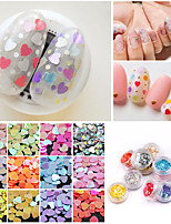 cheap -12 pcs Relaxed Fit / Universal Plastics Sequins For Finger Nail Heart nail art Manicure Pedicure Daily Fashion / Colorful