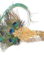 cheap -Dance Accessories 1920s / The Great Gatsby Women's Cotton / nylon with a hint of stretch / Feather / Fur Feather / Crystals Vintage / Costume & Disguise