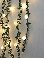 cheap -1.5m String Lights 10 LEDs 1 set Warm White Party / Wedding / Decoration Decorative AA Batteries Powered