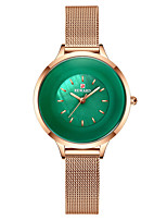 cheap -Women's Steel Band Watches Elegant Fashion Stainless Steel Japanese Quartz Purple Gold Green Water Resistant / Waterproof 30 m 1 pc Analog One Year Battery Life
