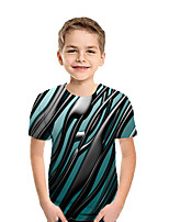 cheap -Kids Boys' Basic 3D Short Sleeve Tee Rainbow