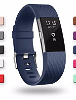 cheap -Watch Band for Fitbit Charge 2 Fitbit Classic Buckle Silicone Wrist Strap