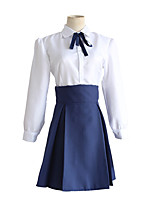 cheap -Inspired by Fate / Stay Night Saber Anime Cosplay Costumes Japanese Cosplay Suits Shirt Skirt Bow For Women's / Bow Tie