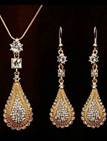 cheap -Women's Bridal Jewelry Sets Pear European Sweet Earrings Jewelry Gold / Silver For Wedding Party 1 set