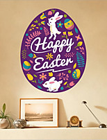 cheap -Happy Easter bunny egg flower Decorative Wall Stickers - Plane Wall Stickers Holiday Indoor