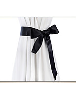 cheap -Satin / Print Cloth Wedding / Party / Evening Sash With Belt Women's Sashes