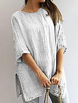cheap -Women's Daily T-shirt - Solid Colored Khaki