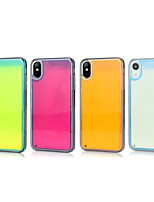 cheap -Case For Apple iPhone 11 / iPhone 11 Pro / iPhone 11 Pro Max Glow in the Dark / Shockproof / Ultra-thin Back Cover Solid Colored PC