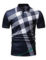 cheap -Men's Daily Basic Polo - Color Block Black