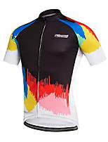cheap -21Grams Men's Short Sleeve Cycling Jersey 100% Polyester Black / Red Bike Jersey Top Mountain Bike MTB Road Bike Cycling UV Resistant Breathable Quick Dry Sports Clothing Apparel / Stretchy