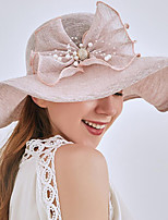 cheap -Vintage Style Fashion Tulle / Imitation Pearl / Organza Hats / Headwear with Bowknot / Imitation Pearl / Pearls 1 Piece Wedding / Outdoor Headpiece