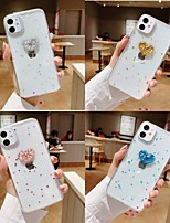cheap -Case For Apple iPhone 11 / iPhone 11 Pro / iPhone 11 Pro Max Shockproof / Pattern Back Cover Heart / Transparent / 3D Cartoon PC