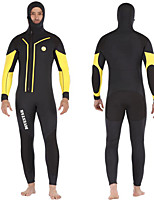 cheap -DIVESTAR Men's Full Wetsuit 5mm SCR Neoprene Diving Suit Thermal / Warm Quick Dry Stretchy Long Sleeve 2-Piece - Diving Water Sports Patchwork Autumn / Fall Spring Summer / High Elasticity