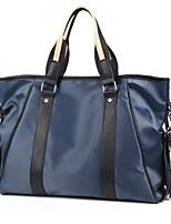 cheap -Men's Zipper PU Top Handle Bag Solid Color Black / Blue