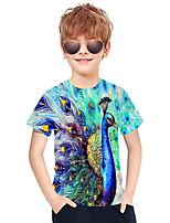 cheap -Kids Boys' Active Punk & Gothic 3D Plaid Animal Short Sleeve Tee Green