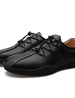 cheap -Men's Faux Leather / Cowhide Spring / Fall & Winter Business / Casual Oxfords Walking Shoes Waterproof Black / Brown
