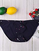 cheap -Men's Print / Basic Briefs Underwear - Normal Low Waist Black White Blue M L XL