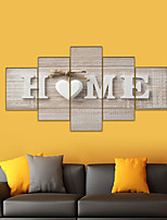 cheap -AMJ hot sale five paintings living room sofa background wall decoration canvas painting frameless painting core