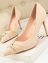 cheap -Women's Heels Stiletto Heel Pointed Toe Suede Spring & Summer Black / Nude / Pink